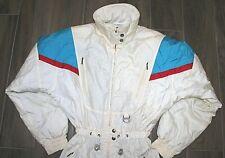 Vtg Retro Descente Woman's  All In One off White Ski Suit US M