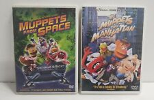 Muppets from Space DVD 2005 and The Muppets Take Manhattan DVD 2001 Lot