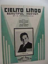 Cielito Lindo Beautiful Heaven piano /  Hawaiian Guitar 1935 Hernandez Don Pedro