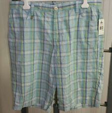 enyce Clothing Co. Urban Blue Green Yellow Gold Plaid Shorts Size 40 Baggy