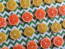 10pc Lemon and Orange, 3D resin Fruit, Cabochon, Flatback, Slime Charm, Flatback