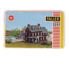 FALLER 2257 KIT N Gauge Scale Spur Mansion With Pool , Herrenhaus mit Schwimmbad