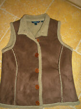 BODEN SHEARLING GILLET AND HAT, SIZE SMALL, VERSATILE WEAR, 100% POLYESTER