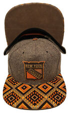 "Zephyr Nhl New York Rangers ""Dreamcatcher"" 5 Panel Flat Bill Snapback Hat Nwt"