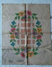 Vintage Hooked Rug Pattern # 5893 Flowers by Dritz