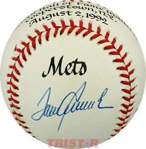 Tom Seaver Autographed Commemorative Hall of Fame Induction NL Baseball JSA