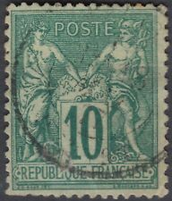 1876 Sage type II 10c vert Y&T 76 Sc 69 cote 280€ cv $330