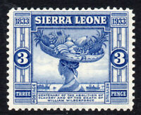 Sierra Leone 3d Stamp c1933 Mounted Mint (2411)