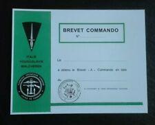 URKUNDE Commando Lehrgang, Belgien, Spezialkräfte, KSK, Fallschirmjäger, Brevet