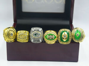 6PCS Green Bay Packers Championship Ring //-