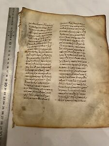 Rare Egyptian,Greek Script ,Christianity Holy Bible Parchment Leaf New Testament