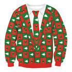 Women Men Xmas Ugly Christmas Sweater Santa Jumper Pullover Sweatshirts Fun Top.