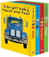 Bright Baby Touch and Feel: Words/Colors/Numbers/Shapes (Quantity Pack)