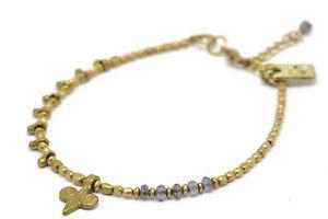 Bead Bracelet Metal Iolite And Lys - Nataraj