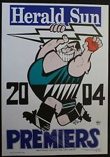 Port Adelaide weg poster 2004 Premiers been stored flat condition