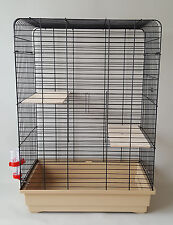 Chinchilla Cage Ferret Rodents Rat Grey Degu Two Wooden Platform Water Bottle