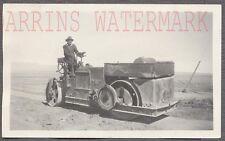 Vintage Photo Buffalo Springfield Steam Roller 1920s Constrcution Tractor 721002
