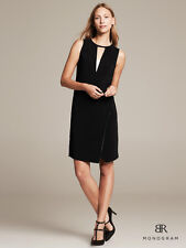 NEW BANANA REPUBLIC BLACK BR Monogram Cutout Sheath Dress SZ 2 ~ SOLD OUT$130