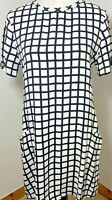 Abercrombie & Fitch Size S 10 12 Shift Dress Size Black White Check Work Casual
