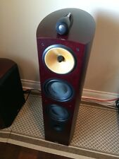 B&W Bowers Wilkins Nautilus 803 Main / Stereo Speakers Dark Cherry Color