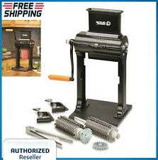 2-in-1 Meat Tenderizer & Jerky Slicer 32 Blades Stainless Steel Combs Hand Crank