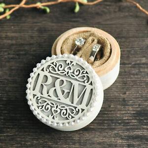 Custom Wedding Ring Box Wood Ring Bearer Engagement Personalized Ring Holder