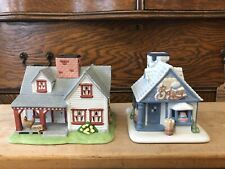 Partylite Villages The Farmhouse & Bakery Tealight Candle Holders
