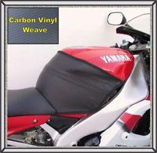 2002 - 2003 YZF R1 Gas Tank 1/2 Cover Black Carbon Weave Premium Vinyl TARGA