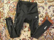 Santic Black w/ Web Side Design Cycling Pants Women's sz XL