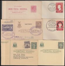 PHILIPPINES POSTAL STATIONERY (x6) MOSTLY 1940's/50's (ID:662/D53409)