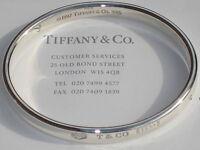 Tiffany & Co 1837 Oval Sterling Silver Bracelet Bangle