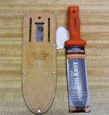 A M LEONARD gardening-grafting-pruning Classic Soil Knife and Sheath COMBO 4750