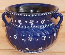 Gmundner Keramik Dirndl blau Blumentopf Henkel Landhaus Übertopf (1508DE3-2#)