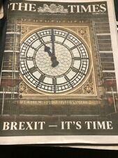 Brexit Special Edition UK The Times Newspaper 31st January 2020 REDUCED TO CLEAR