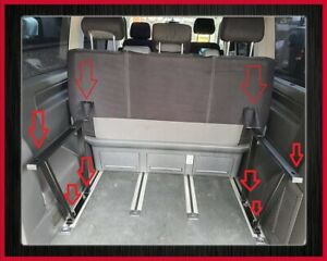 Multiflexboard Klappbar Konsolen- Mit Scharnier VW T5 T6 Multivan H:51cm Schwarz