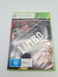 TRIPLE PACK: TRIALS HD + LIMBO + SPLOSION MAN   XBOX 360   PAL   BRAND NEW