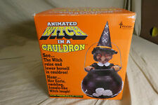 "Vintage 1994 Telco 12"" ANIMATED WITCH IN A CAULDRON -Halloween Decoration in Box"