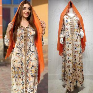 Abaya Dubai Kaftan Women Muslim Long Maxi Dress Islamic Party Gown Jilbab Caftan