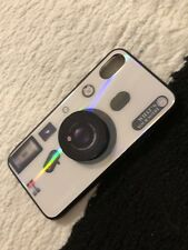New Apple Iphone x/xs White TPU Photoshoot Camera Inspired Laser Reflective Case