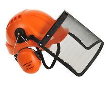 Portwest PW98 Protective Work Hard Hat Ear Muffs & Visor Forestry Combi Kit ANSI
