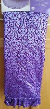 "Jaclyn Smith 52"" Purple with Scroll Design Tree Skirt - Nip!"