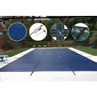 16 ft. x 38 ft. Rectangle Blue Mesh In-Ground Safety Pool Cover