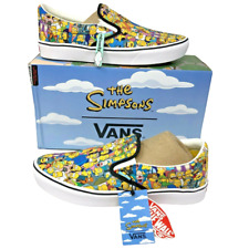 Vans x The Simpsons Slip On ComfyCush Springfield NEW VN0A3WMD1TJ SIZE 11.5 MENS