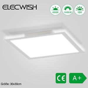 ELECWISH Deckenlampe Deckenleuchte LED Panel 18W Wohnzimmer Flur Büro 30x30cm DE