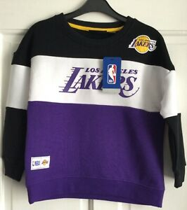 BNWT Official NBA LA Lakers Kids Girls Boys Basketball Sweatshirt Jumper Top