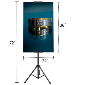 Double-Sided Easel Poster Sign Holder Floor Stand, Adjustable up to 72 inches