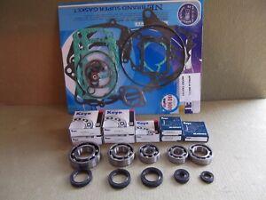 Aprilia RS125 RS 125 Complete Koyo Bearing & Seal Kit with gasket set.Rotax 122.