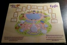 Disney Figment's Brush Epcot Festival Of The Arts Map with Stickers