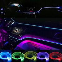 6M/8M RGB LED Car Interior Fiber Optic Neon EL Wire Strip Light Atmosphere  e /-