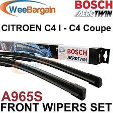 CITROEN C4 I (LC) Coupe (LA) Genuine BOSCH A965S Aerotwin Front Wiper Blades Set